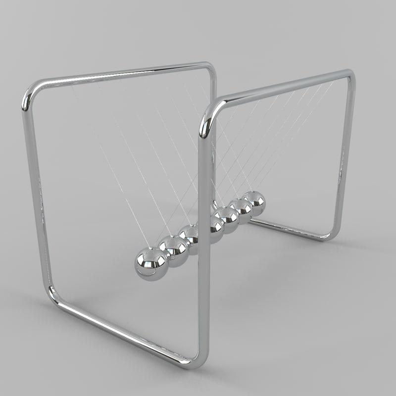 3d newtons cradle model