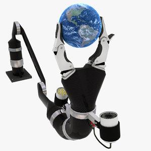 remotely robot arm 3d model