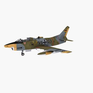 3d fiat jet fighter luftwaffe model