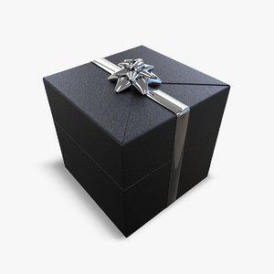 3d gift box model