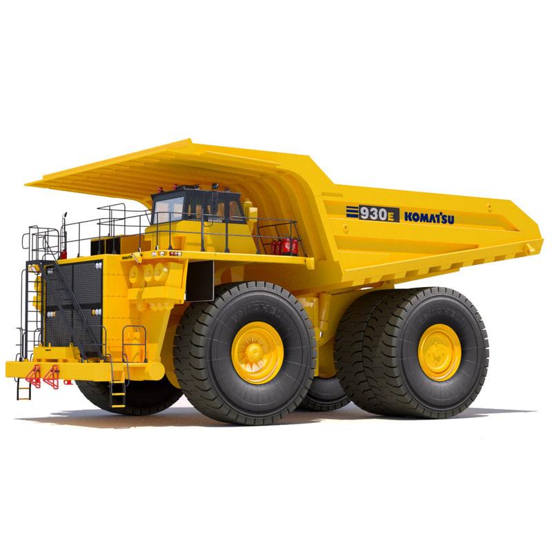 dump truck komatsu 930e 3d xsi