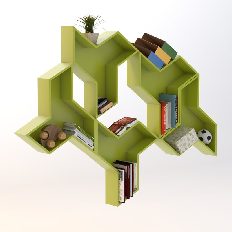3d bookshelf model