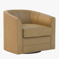 Milo Swivel Slipper Chair