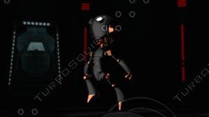 blender cool robot