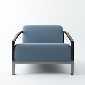 mel modern chair 3d max