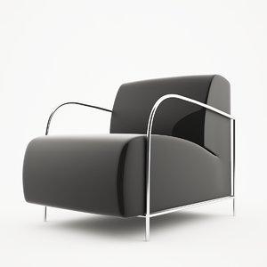 moon chair 3d max