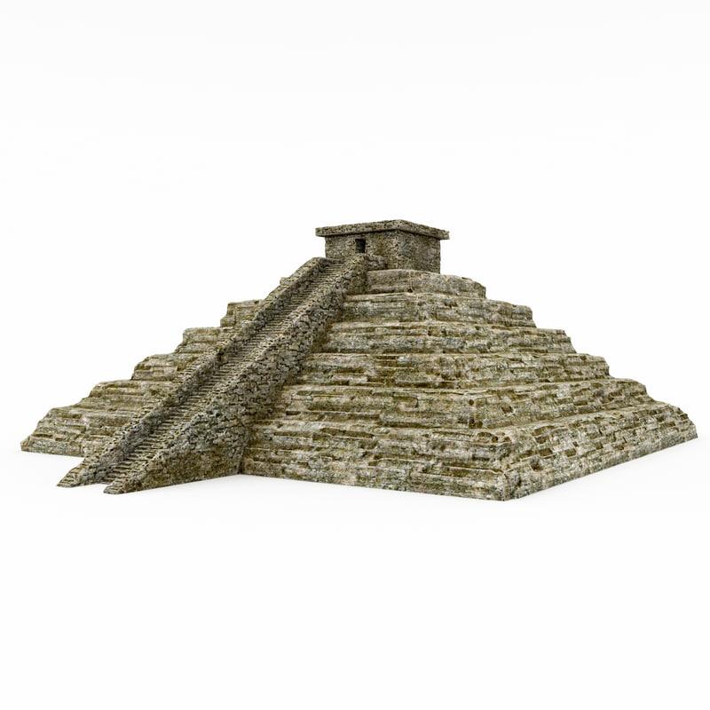 3d stone cliff model