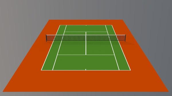3d 3ds tennis hard court v1