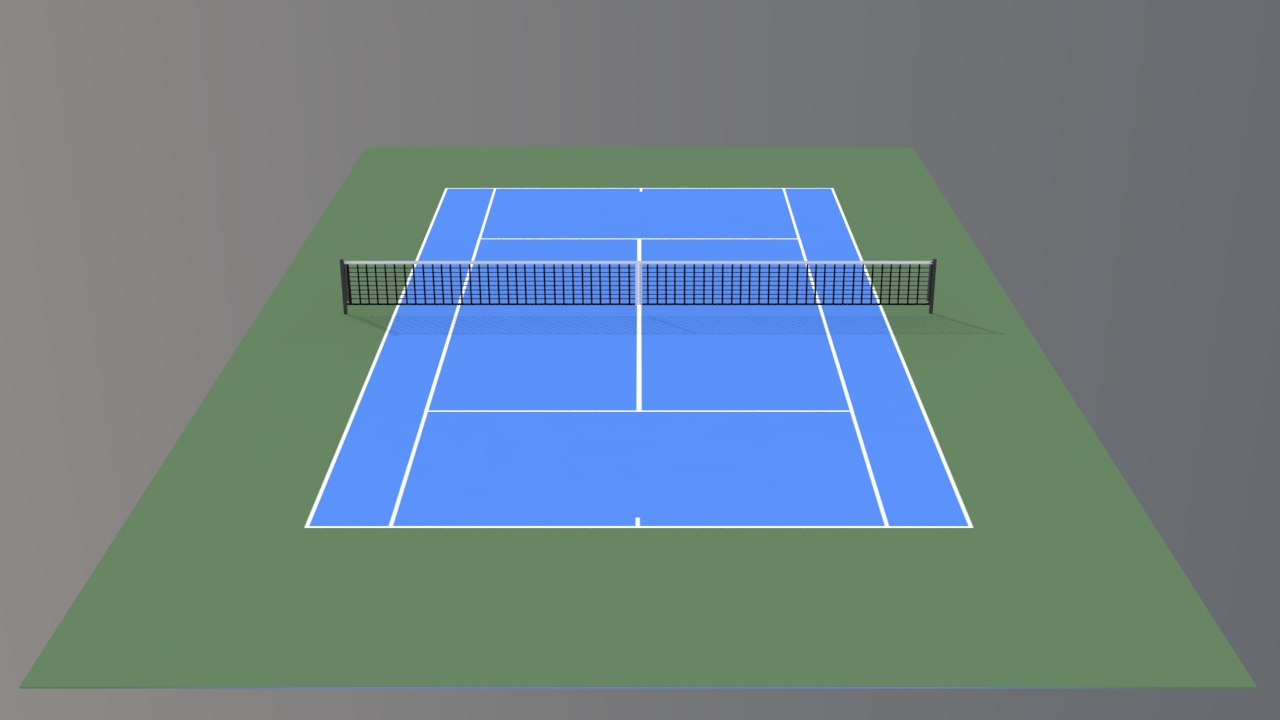 tennis hard court v3 3d max