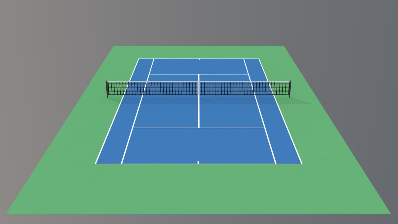 3ds max tennis hard court v4