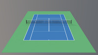 3ds max tennis hard court v4