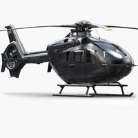eurocopter h135 private 3d model