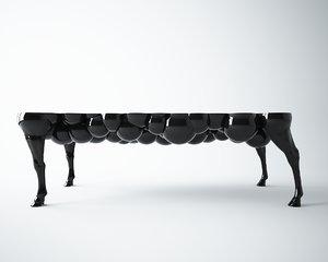 horse leg table 3d model