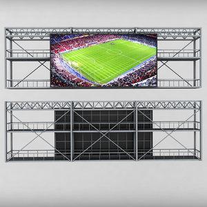 3d scoreboard stadium tv led