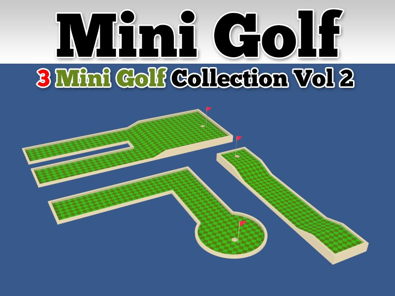 3d mini golf course 3 model