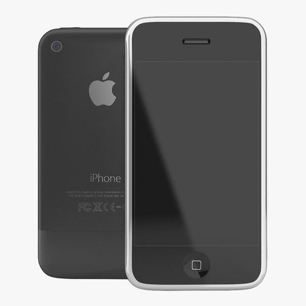 3d apple iphone 2 black