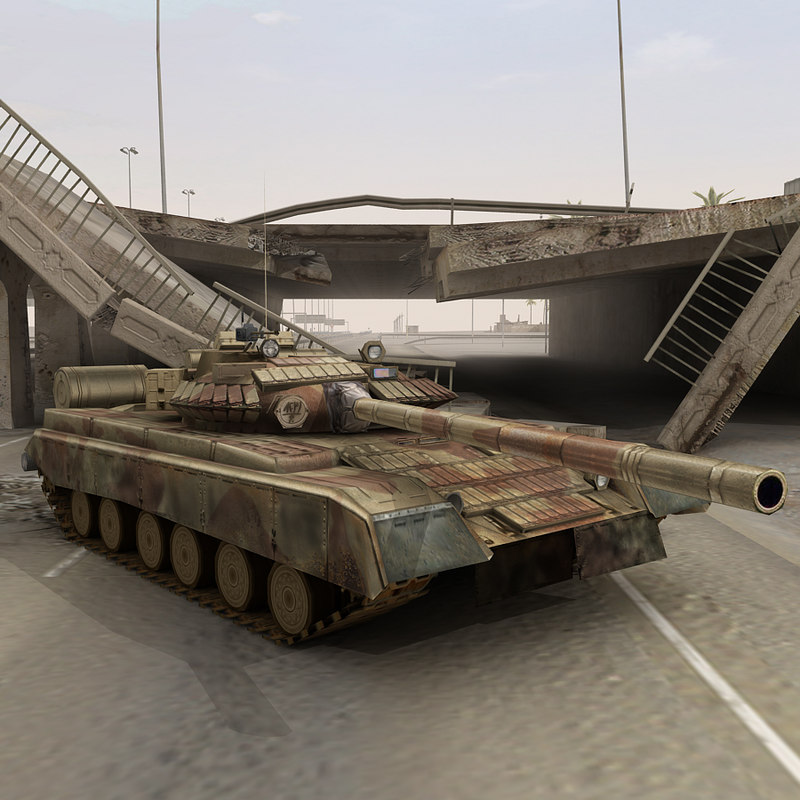 t80 tank iraq 3d model