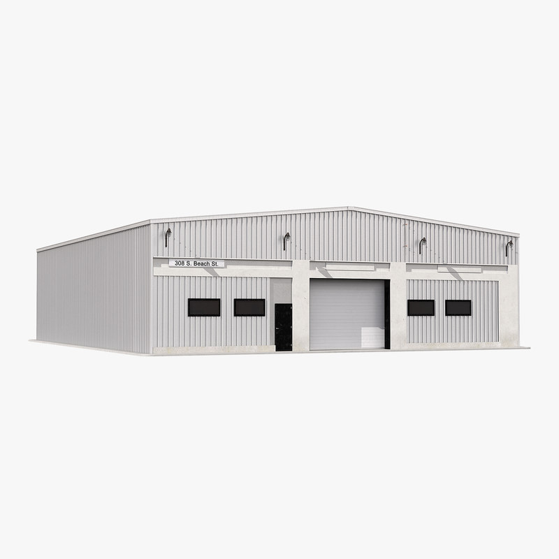 warehouse building 2 3d model