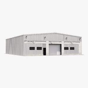 warehouse building 2 3d model
