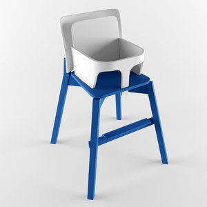 3d model chair highchair balzar