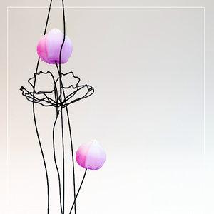 3d decorative flowers wire model