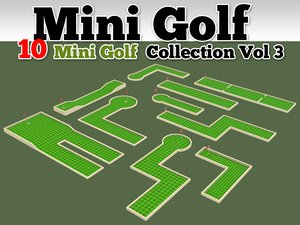 mini golf course 10 3d model