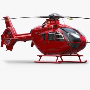 3d eurocopter rescue helicopter