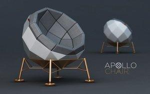 chair apollo 3d max