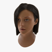 mediterranean woman head hair 3d max