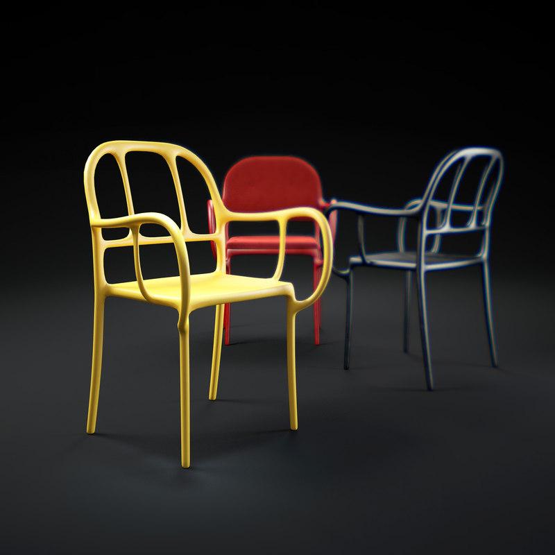 mila-chair 3d model