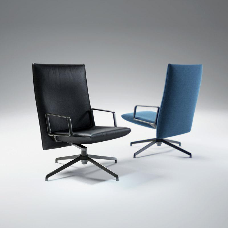 3d model pilot-chair