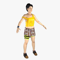 3d model casual girl