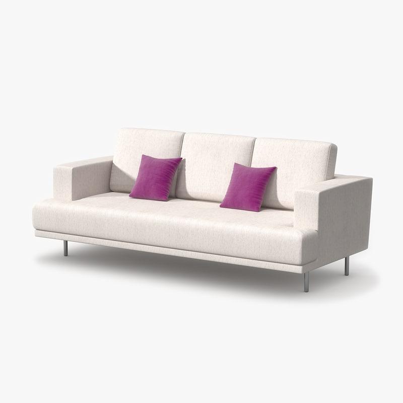3ds max triple sofa fabric