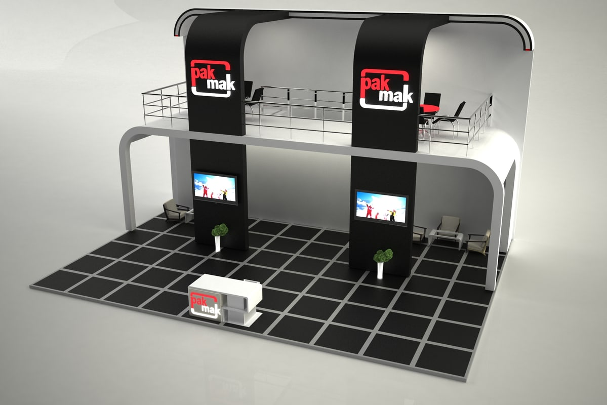 Exhibition Stand 3d Model Sketchup : Free fair stand exhibition d model