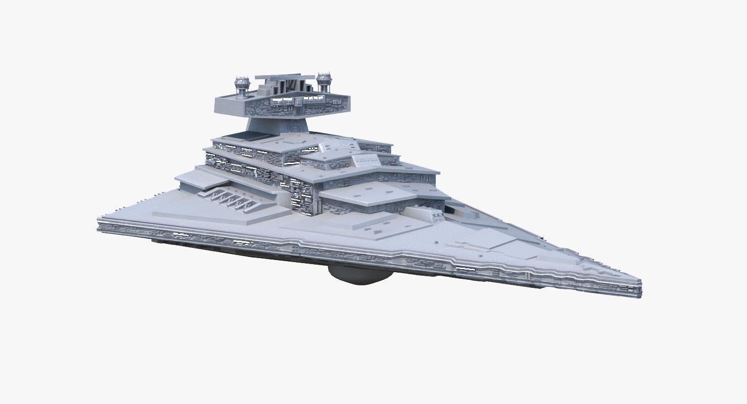 3d fbx star destroyer