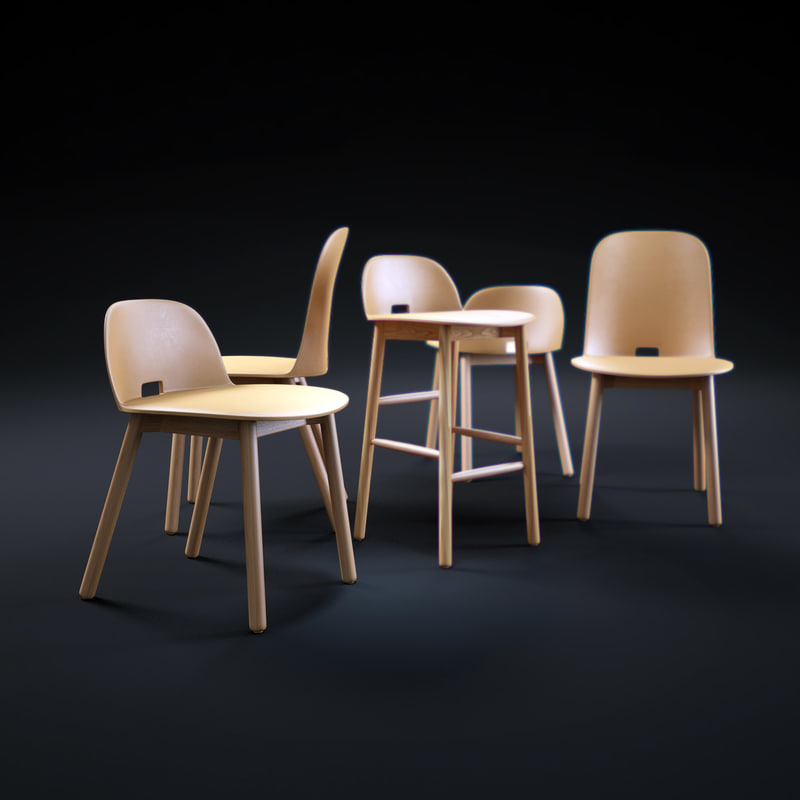 3d alfi-chairs
