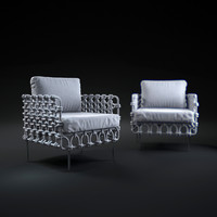 3d cabaret-easy-armchair model
