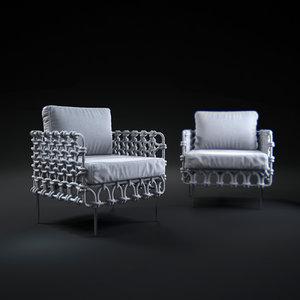 3d cabaret-easy-armchair model