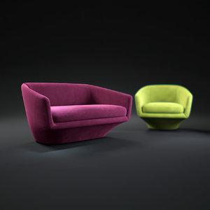 u-sofa 3d model