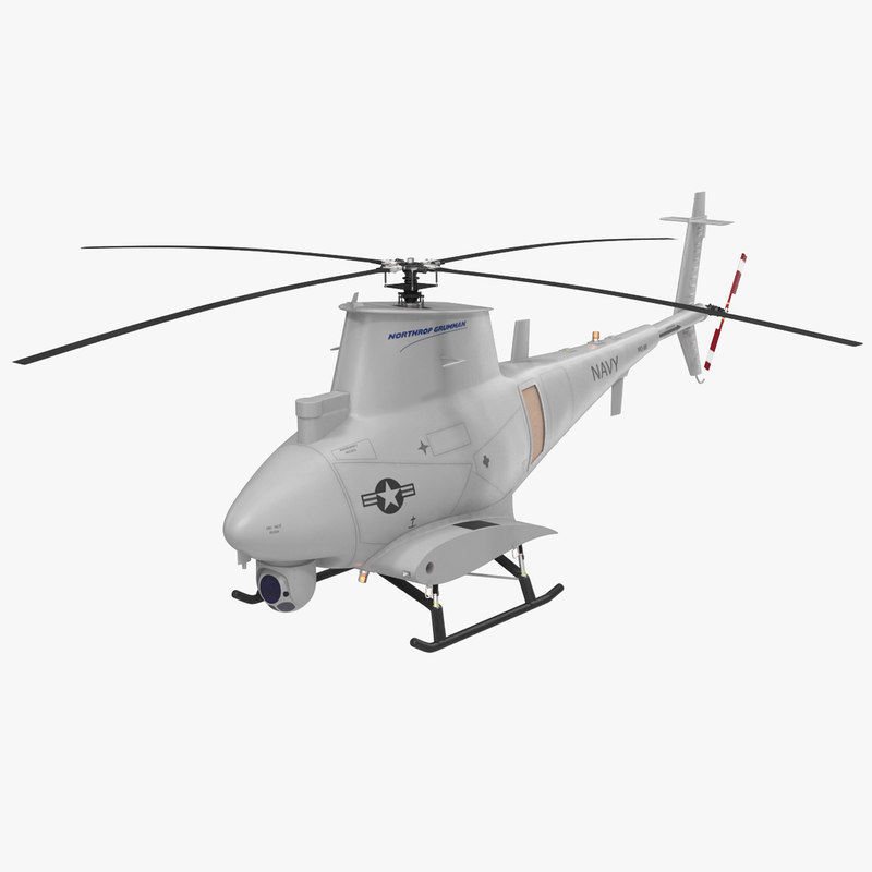 northrop grumman mq-8b scout 3d model
