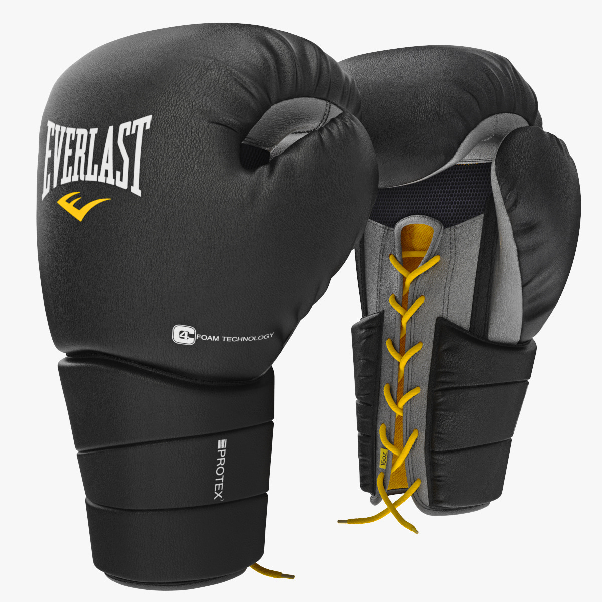 3d model boxing gloves everlast protex