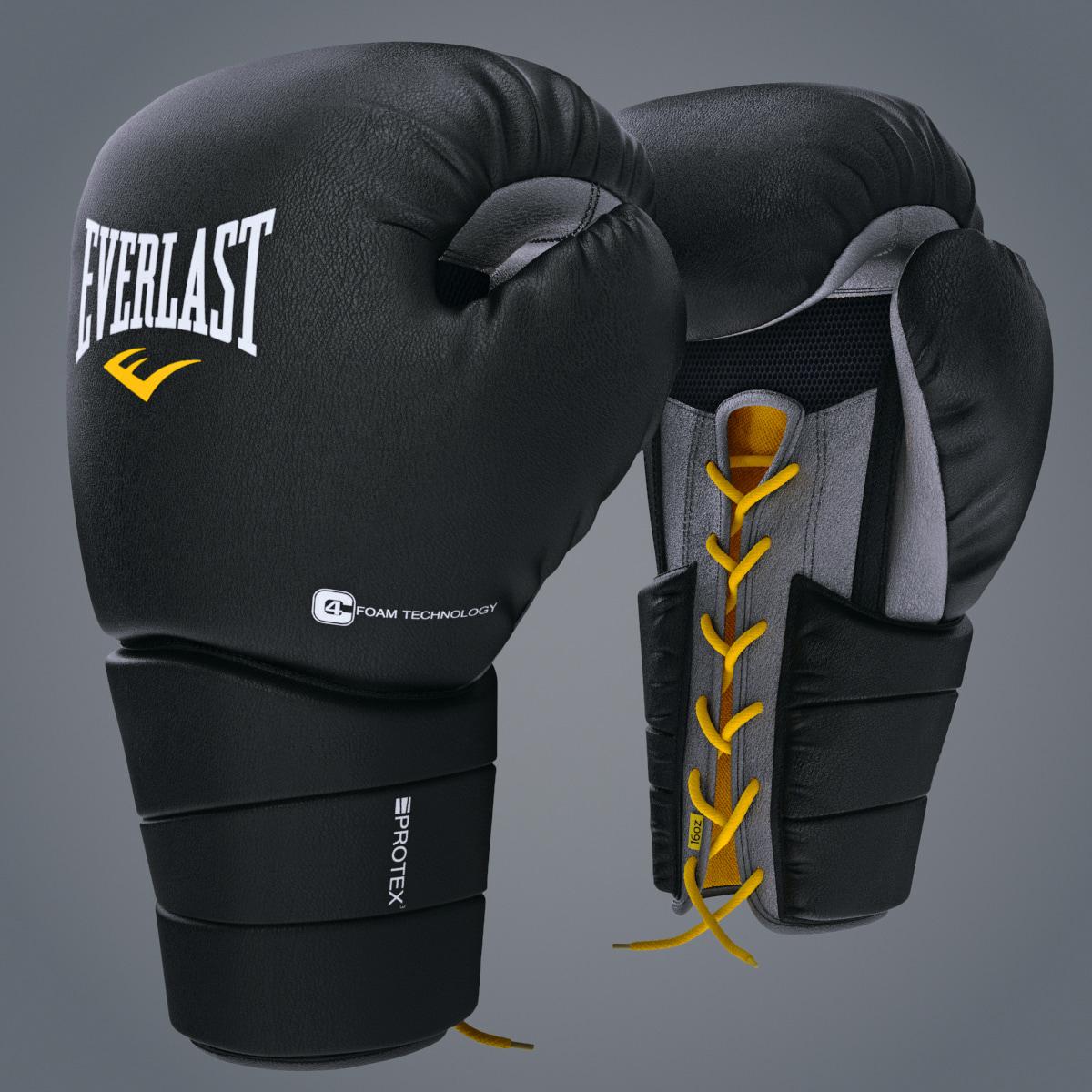 3d model boxing gloves everlast protex