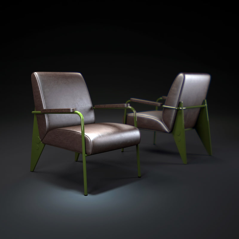 3d model fauteuil-de-salon