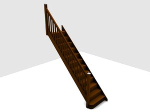 victorian staircase stop 3d model