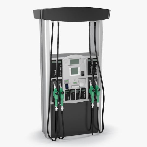 3d realistic fuel dispenser