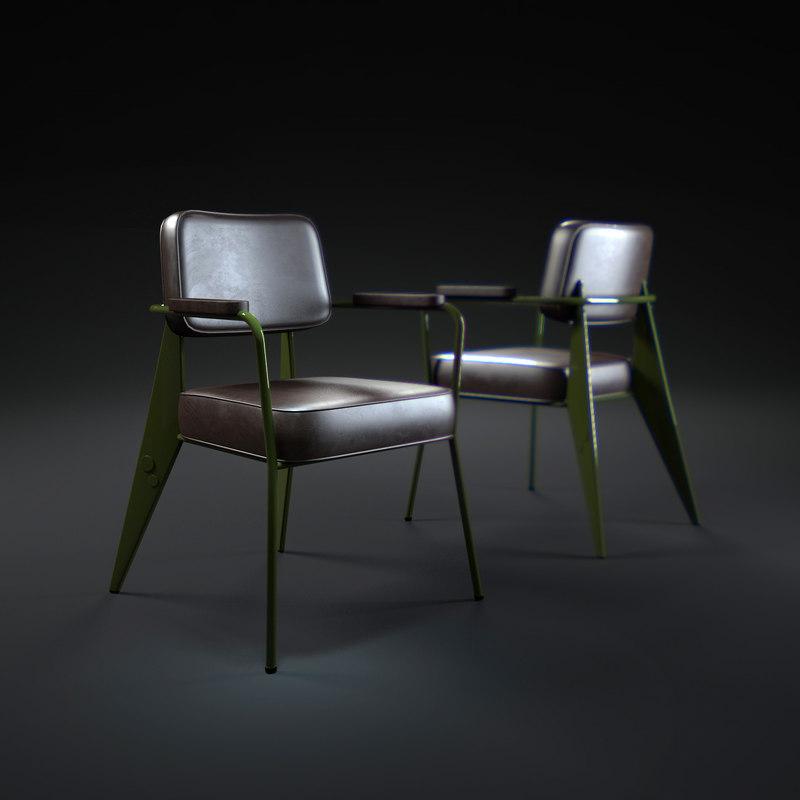 3d fauteuil-direction-1951 model