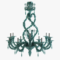 3d model san giorgio chandelier barovier