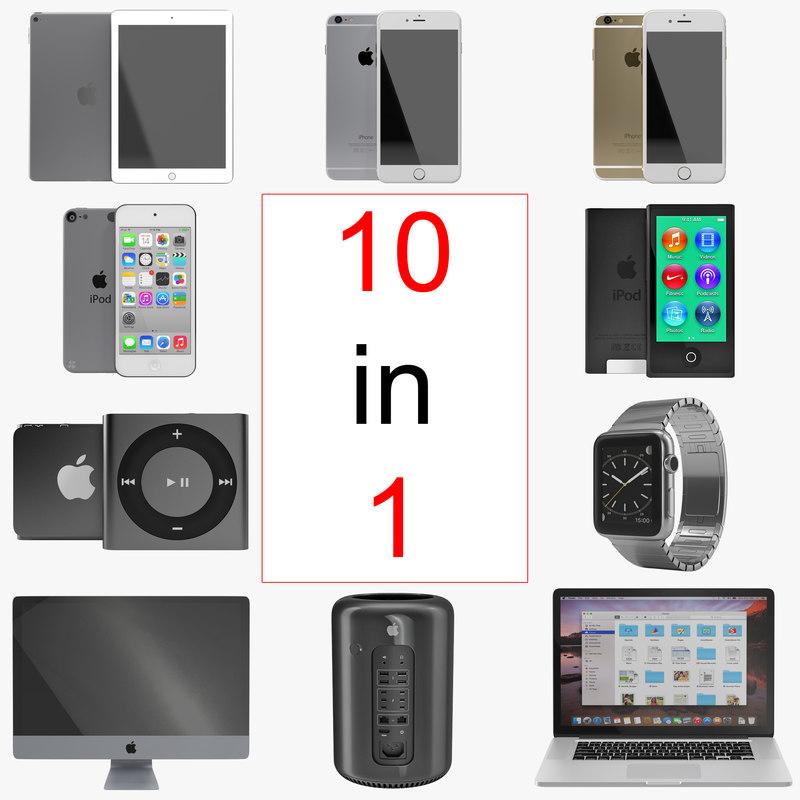 apple electronics modeled ipod shuffle 3d max
