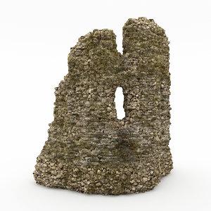 3ds max stone cliff