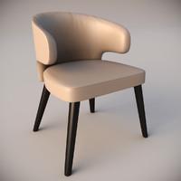 aston lounge little armchair 3d max